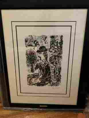 Marc Chagall Lithograph in Colors on Arches Wove Paper
