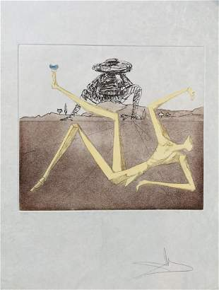 Salvador Dali Original Etching and aquatint in colors