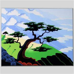 """""""Cows, Coast, Tree"""" Limited Edition Giclee on Canvas by"""