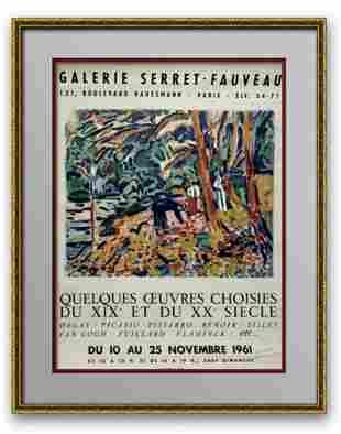 "Pablo Picasso Original exhibition lithograph ""Galerie"