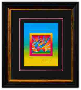 """Peter Max- Original Lithograph """"Cosmic Flyer on Blends"""""""