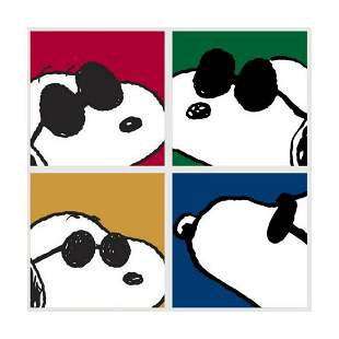 """Peanuts, """"Snoopy: Faces"""" Hand Numbered Canvas (40""""x44"""")"""