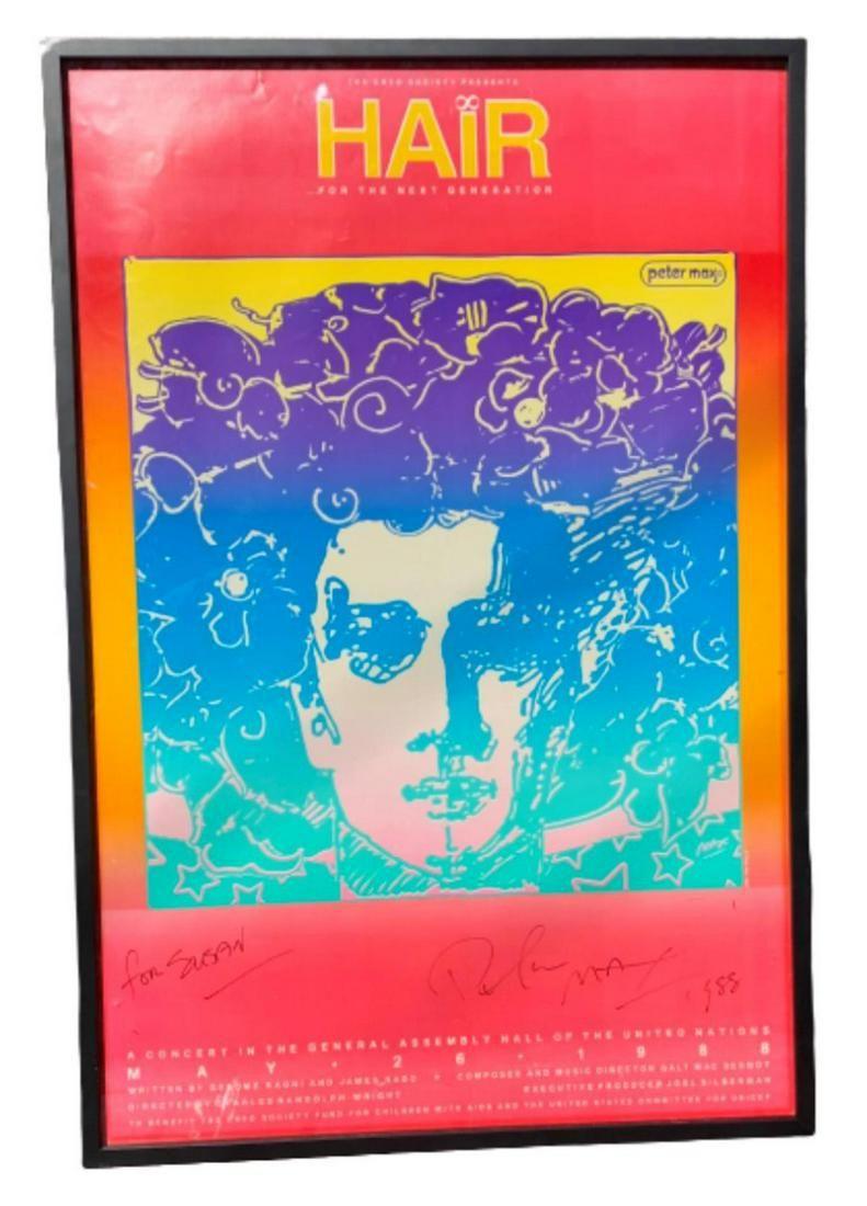 "Peter Max Vintage original poster ""Hair"""