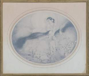 Louis Icart Hand Colored Aquatint Etching on paper