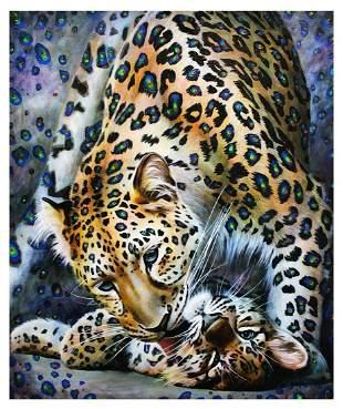 "Vera V. Goncharenko- Original Giclee on Canvas ""Showing"