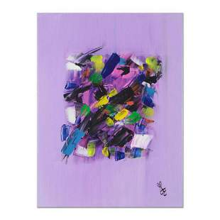 """George Marlowe, """"Lilac Fantasy"""" Original Acrylic"""