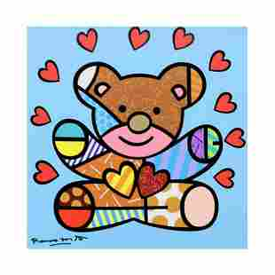 "Romero Britto ""Happy Boy"" Hand Signed Limited Edition"