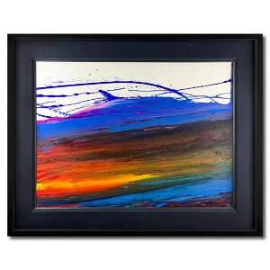 "Wyland, ""Sunset Watch"" Hand Signed Original Painting on"