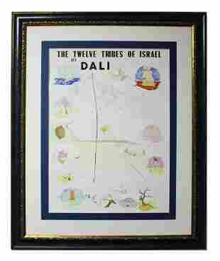 "Salvador Dali- Lithograph ""Twelve Tribes of Israel"