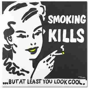 """Smoking Kills"" Limited Edition Lithograph by Todd"