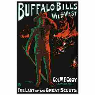 "RE Society, ""Buffalo Bills Wild West"" Hand Pulled"