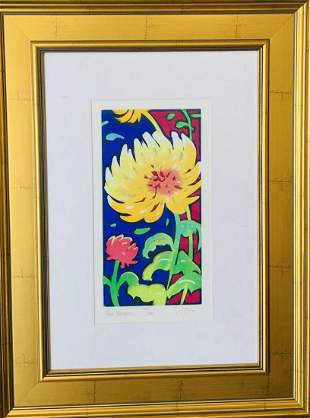 Simon Bull Original etching with hand laid gold leaf