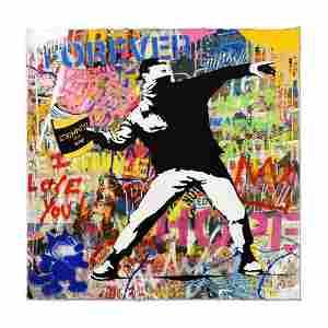 Mr. Brainwash Original One-of-a-Kind Mixed Media