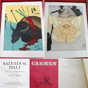 """Salvador Dali Limited Edition Lithographs from """"Carmen"""""""