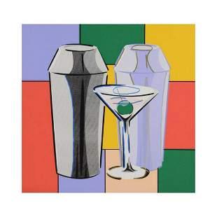 "Steve Kaufman (1960-2010) ""Martini"" Hand Embellished"