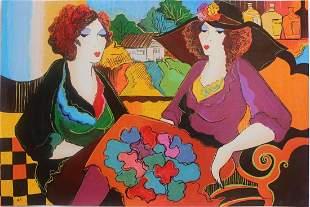 "Patricia Govezensky- Original Serigraph on Paper ""Villa"