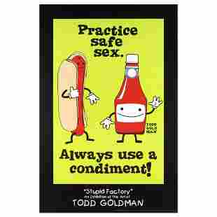 """""""Practice Safe Sex, Always Use A Condiment"""" Collectible"""