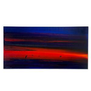 """Wyland, """"Water Planet"""" Hand Signed Original Painting on"""
