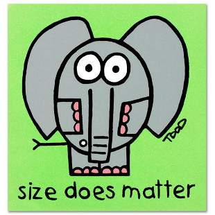 """Size Does Matter"" Limited Edition Lithograph by Todd"