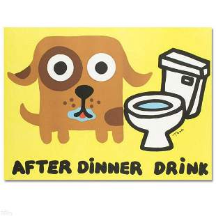 """After Dinner Drink"" Limited Edition Lithograph by Todd"