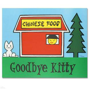 """Goodbye Kitty"" Limited Edition Lithograph (37"" x 30"")"