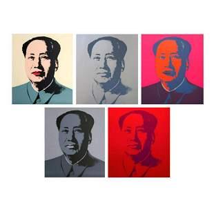 "Andy Warhol ""Mao Portfolio"" Suite of 5 Silk Screen"