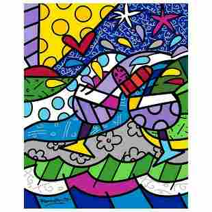 "Romero Britto ""Wine Country Purple"" Hand Signed Limited"
