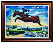 "Ferjo- Original Oil on Canvas ""Flying Free"""