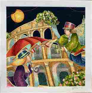 "Francesco Nesi- Original Serigraph on Paper ""NOTTE"