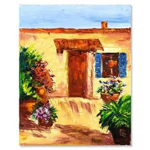 "Elliot Fallas, ""From the Garden"" Original Oil Painting"
