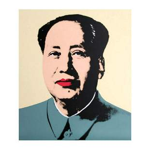 "Andy Warhol ""Mao Yellow"" Silk Screen Print from Sunday"