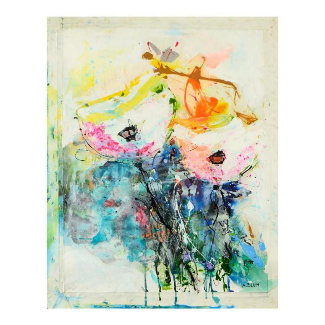 M. Blum, Original Oil Painting on Canvas, Hand Signed