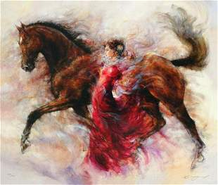 """Gary Benfield """"Mercedes Storm"""" Giclee on Canvas"""