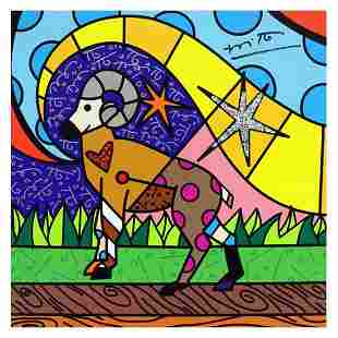 """Britto, """"Aries"""" Hand Signed Limited Edition Giclee on"""