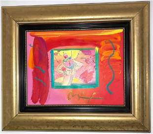 "Peter Max Original Acrylic painting on canvas  ""Dega"
