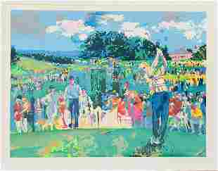 """Leroy Neiman  Silkscreen on paper """"Augusta Golf """""""