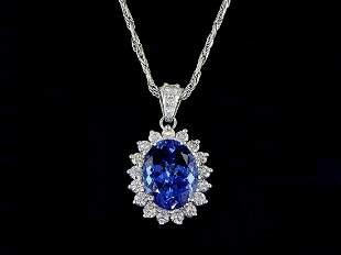 14kt White Gold 0.88 ctw Diamond Pendant