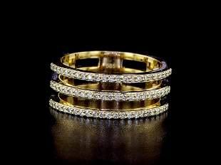 14kt Yellow Gold 0.65 ctw Diamond Ring