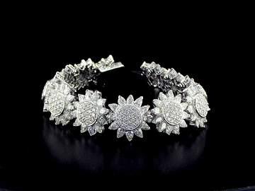 18kt White Gold 26.1 ctw Diamond Bracelet