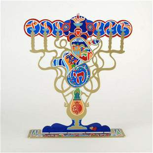 "Raphael Abecassis, ""Menorah"" Limited Edition Metal"