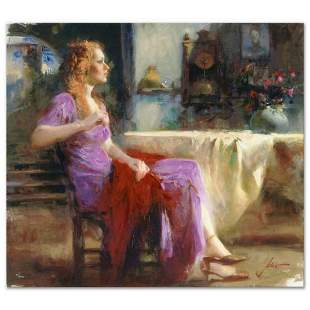 "Pino (1939-2010), ""Longing For"" Artist Embellished"