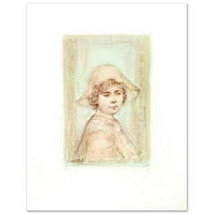"""Victoria"" Limited Edition Lithograph by Edna Hibel"