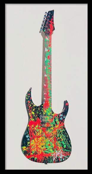 "E.M. Zax- One-of-a-Kind hand painted Guitar ""Guitar"""