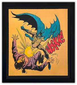 "Mr. Brainwash- Silkscreen Serigraph ""Bat-Wockk"""