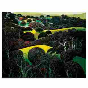 "Eyvind Earle (1916-2000), ""Santa Ynez Memories"" Limited"