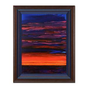 "Wyland, ""Colors of the Sunset Sea"" Hand Signed Original"