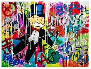 "Nastya Rovenskaya- Mixed Media ""Monopoly Money"""