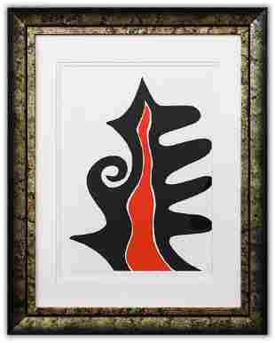 """Alexander Calder- Lithograph """"DLM201 - Flamme"""