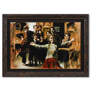 "Fabian Perez, ""The Little Dancer"" Framed Hand"