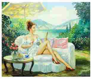 "Taras Sidan- Original Giclee on Canvas ""Benita"""